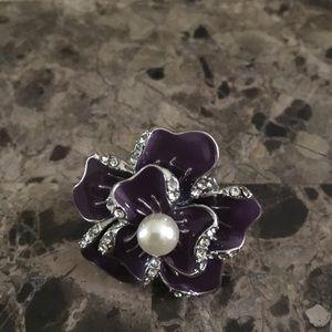 Jewelry - Purple Flower costume ring